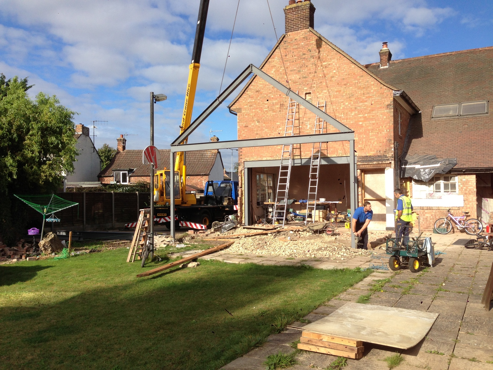 Steel picture frame and support frame for large extension Holbeach ...